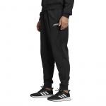 Adidas Men's Essentials Plain Tapered Fleece Cuffed Pant - Black Adidas Men's Essentials Plain Tapered Fleece Cuffed Pant - Black