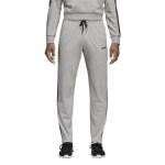 ADIDAS Men's Essentials 3-Stripes Tapered Open Hem Pants - medium grey heather/black/mgh solid ADIDAS Men's Essentials 3-Stripes Tapered Open Hem Pants - medium grey heather/black/mgh solid