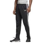 ADIDAS Men's Essentials 3-Stripes Tapered Open Hem Pants - Black/White ADIDAS Men's Essentials 3-Stripes Tapered Open Hem Pants - Black/White