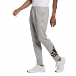 Adidas Mens Essentials French Terry Tapered Cuff Pant - Medium Grey Heather/Black Adidas Mens Essentials French Terry Tapered Cuff Pant - Medium Grey Heather/Black