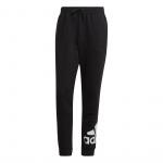 Adidas Mens Essentials Fleece Tapered Cuff Logo Pant - Black/White Adidas Mens Essentials Fleece Tapered Cuff Logo Pant - Black/White