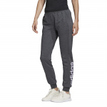 Adidas Womens Essentials Linear Pant - Dark Grey Heather/Purple Tint Adidas Womens Essentials Linear Pant - Dark Grey Heather/Purple Tint