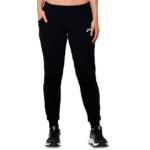 ASICS Womens Fleece Cuff Pant - Performance Black ASICS Womens Fleece Cuff Pant - Performance Black