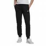 Adidas Womens Linear Tapered Cuffed Pant - Black/White Adidas Womens Linear Tapered Cuffed Pant - Black/White