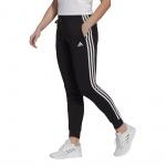 Adidas Womens Essentials Slim Tapered Cuffed Pant - Black/White Adidas Womens Essentials Slim Tapered Cuffed Pant - Black/White