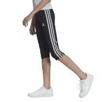 Adidas Girls Equip 3-Stripes 3/4 Tight - BLACK/WHITE Adidas Girls Equip 3-Stripes 3/4 Tight - BLACK/WHITE