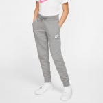 Nike Girls Sportswear Fleece Pant - CARBON HEATHER/WHITE Nike Girls Sportswear Fleece Pant - CARBON HEATHER/WHITE