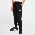 Nike Girls Sportswear Fleece Pant - Black/White Nike Girls Sportswear Fleece Pant - Black/White