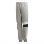 Adidas Boys Linear Colorblock Pant - Medium Grey Heather/White Adidas Boys Linear Colorblock Pant - Medium Grey Heather/White