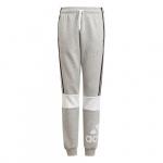 Adidas Boys Essentials Colorblock Pant - Medium Grey Heather/White Adidas Boys Essentials Colorblock Pant - Medium Grey Heather/White