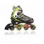 Blade X Focus 15 Easy Adjust Senior & Junior Inline Skates - Black/Green Blade X Focus 15 Easy Adjust Senior & Junior Inline Skates - Black/Green