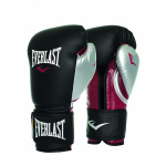 EVERLAST Powerlock Training Boxing Glove - BLACK/MAROON/SILVER EVERLAST Powerlock Training Boxing Glove - BLACK/MAROON/SILVER