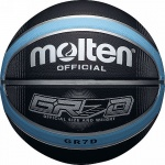 Molten GR Rubber Basketball Black/Blue Molten GR Rubber Basketball Black/Blue