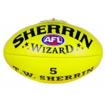 Sherrin Wizard Leather Football - YELLOW Sherrin Wizard Leather Football - YELLOW