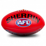 Sherrin AFL Leather Replica Football - Red (SIZE 5) Sherrin AFL Leather Replica Football - Red (SIZE 5)