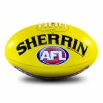 Sherrin AFL Replica Leather Training Football - YELLOW Sherrin AFL Replica Leather Training Football - YELLOW