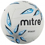 Mitre Intercept Netball - White/Black/Cyan Mitre Intercept Netball - White/Black/Cyan